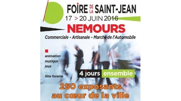 Nous serons présents sur la foire de Nemours du 17 au 20 juin 2016